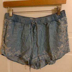 Blue patterned shorts